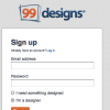 99designs - Designer Sign Up