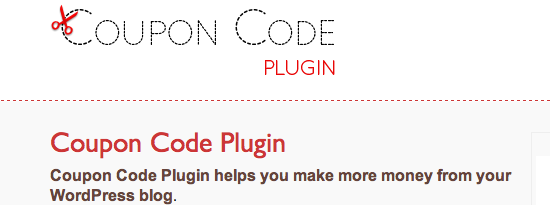 Coupon Code Plugin