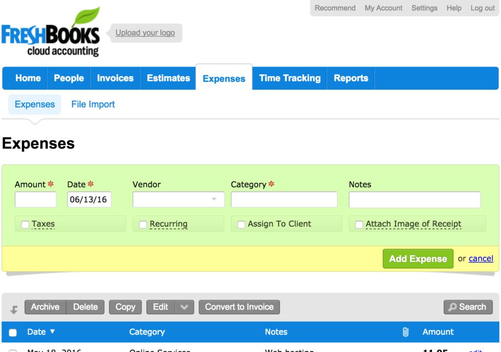 Expenses-Freshbooks-Manual