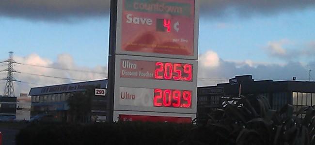 Shell Fuel Price Board - 274 Ti Rakau Drive